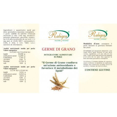 Integratore Germe Di grano 100 Perle 250 mg
