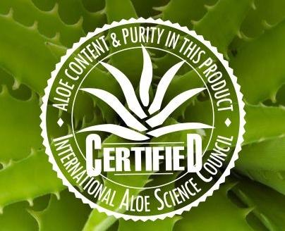 aloe vera certified certificata