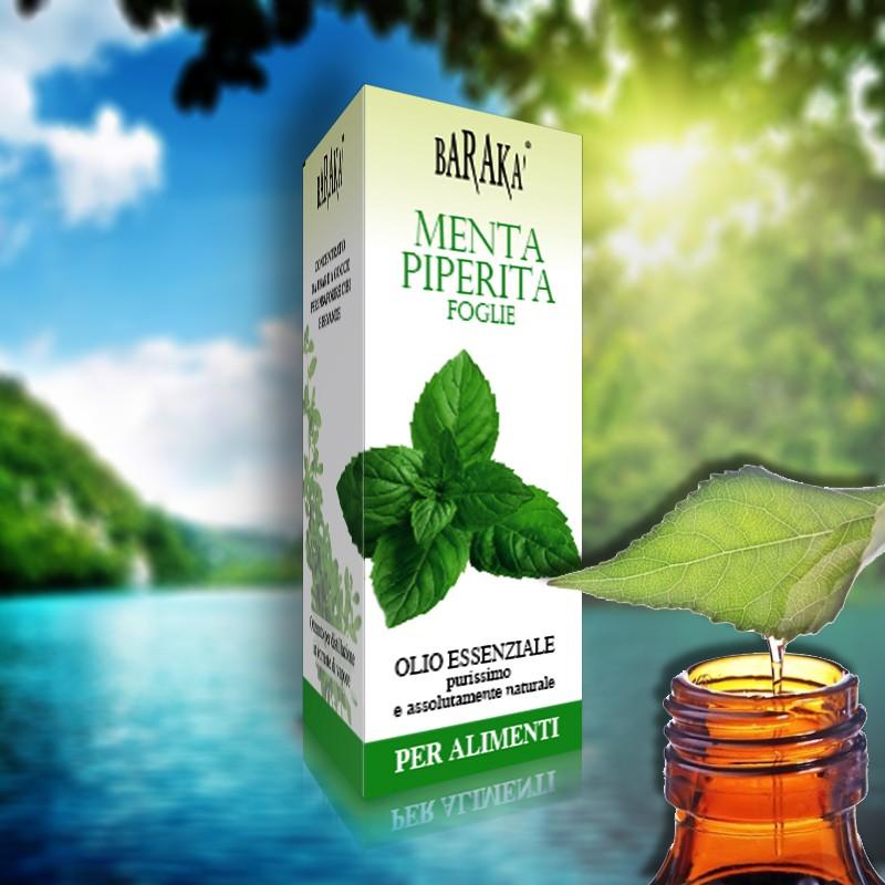 olio essenziale menta piperita foglie aromaterapia
