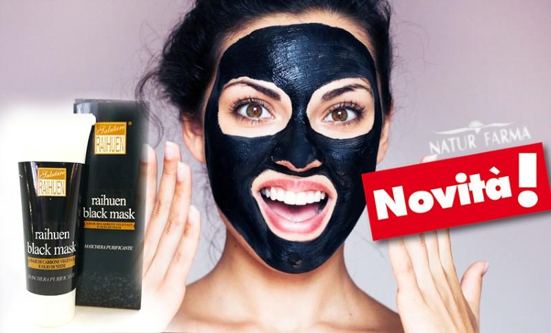 maschera nera black mask prodotto italiano
